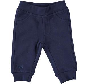 Pantalone in felpa con tasche sagomate a punta dietro ido NAVY-3854