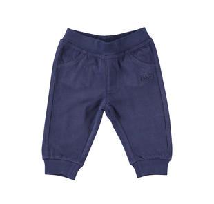 Pantalone lungo 100% cotone modello unisex ido NAVY-3854