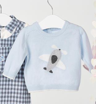 Maglia in tricot in misto cotone e lana ido SKY-5818