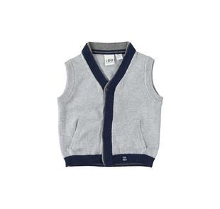 Gilet in tricot misto cotone e lana ido GRIGIO MELANGE-8992