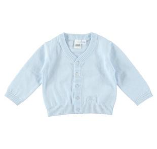 Cardigan in tricot misto cotone e lana con bottoni ido SKY-5818