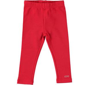 Pratico e versatile leggings in felpa stretch garzata ido ROSSO-2253