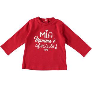 Maglietta 100% cotone mia mamma è speciale ido ROSSO-2253