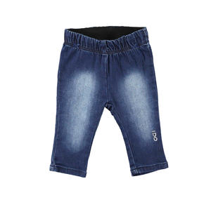 Leggings in particolare tessuto di maglia effetto denim ido STONE WASHED-7450