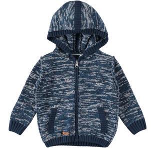 Maglia aperta con cappuccio in tricot ido NAVY-3856