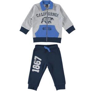 Tutina in jersey pesante misto cotone ido GRIGIO-BLU-8008