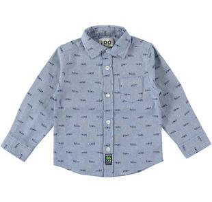 Camicia modello classico 100% cotone in oxford ido AZZURO-BLU-6Z31
