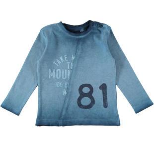 Maglietta a manica lunga in caldo tessuto 100% cotone ido OTTANIO-3937
