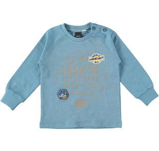 Maglietta a manica lunga in jersey fiammato 100% cotone ido OTTANIO-3931