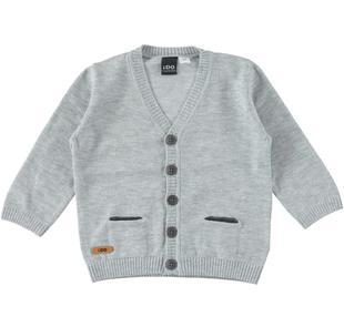 Cardigan misto cotone e lana con toppe ai gomiti ido GRIGIO MELANGE-8992