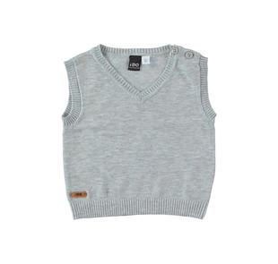 a73344ac645852 Gilet in tricot misto cotone e lana con scollo a v ido GRIGIO MELANGE-8992