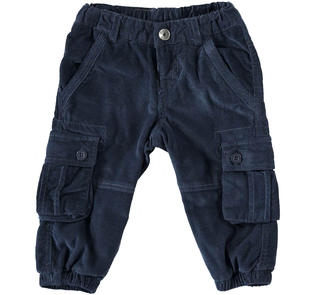 Pantalone cargo in velluto a coste ido NAVY-3856