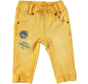 Pantalone jogger in speciale felpa leggera ido GIALLO-1615