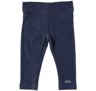 Jeggings in cotone con finte tasche ido NAVY-3854