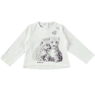 Maglietta in cotone elasticizzato con teneri tigrotti ido