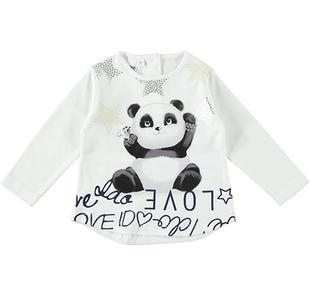 Maxi maglietta 100% cotone con tenero panda vanitoso ido PANNA-0112