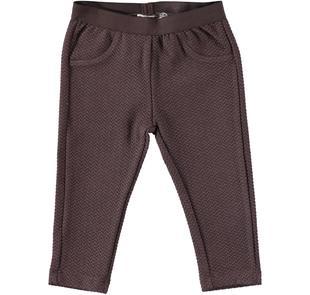 Pantalone lungo in matelassè ido MARRONE-1243