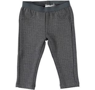 Pantalone lungo in matelassè ido GRIGIO MELANGE SCURO-8994
