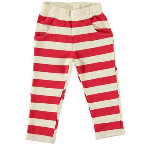 Grintoso pantalone di cotone con righe e stelle ido BEIGE-ROSSO-6Z49