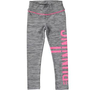 Pantaloni leggings in tessuto tecnico stampa effetto gommato ido GRIGIO MELANGE SCURO-8994