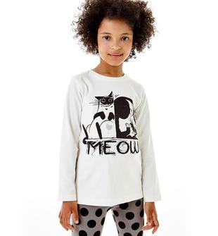 Spiritosa e molto comoda maglietta 100% cotone ido PANNA-0112