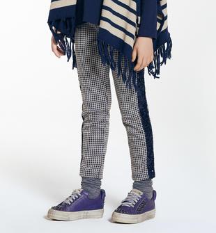 Pantalone con bande laterali di pailettes ido NAVY-3854
