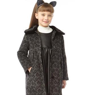 Elegante cappotto in panno laniero fantasia maculata ido GRIGIO-NERO-8067