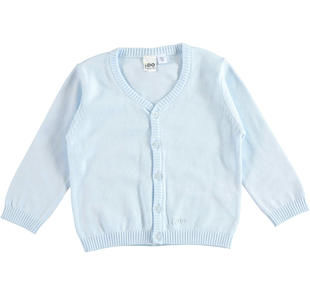 Cardigan in tricot 100% cotone con scollo a v ido SKY-5818
