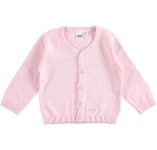Cardigan in tricot 100% cotone con scollo a v ido LIGHT PINK-5819