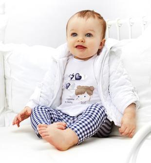Giubbotto neonata a manica lunga in soffice tessuto ido BIANCO-0113