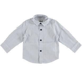 Camicia classica 100% cotone a manica lunga con laccetto interno ido NAVY-3856