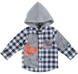 Super fashion camicia a manica lunga con cappuccio removibile ido NAVY-3856