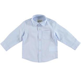 Raffinata camicia realizzata in speciale tessuto per bambino ido AZZURRO-3637
