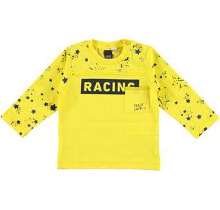 Maglietta racing 100% cotone ido GIALLO-1444