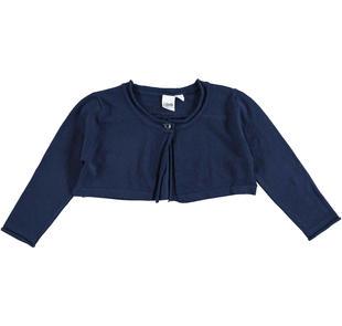 Cardigan corto in tricot misto viscosa ido NAVY-3854