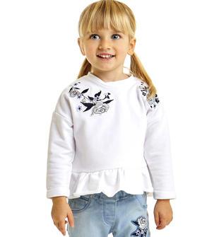 Versatile e comoda maglietta svasata in felpa stretch di cotone ido BIANCO-0113