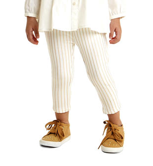 Elegante leggings fantasia gessata laminata ido PANNA-BEIGE-6BN7