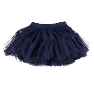 Gonna a ruota realizzata in tulle ido NAVY-3854