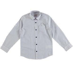 Camicia classica in fresco popeline 100% cotone ido NAVY-3856