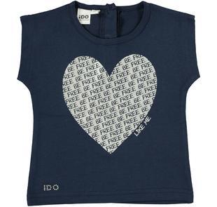 T-shirt smanicata in cotone con scollo stondato ido NAVY-3854