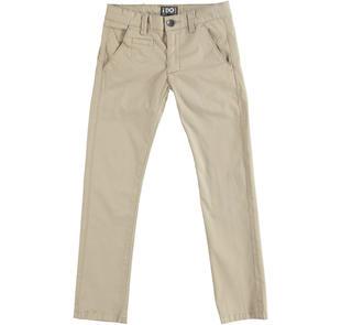 Pantalone modello chinos in twill stretch di cotone ido BEIGE-0436