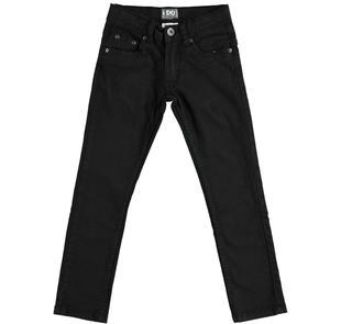Pantalone slim fit in twill stretch di cotone ido NERO-0658