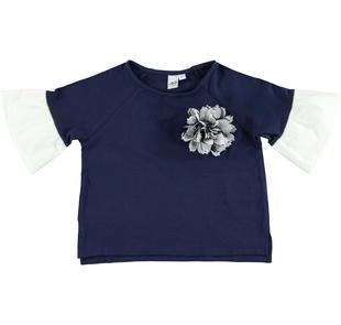 Comoda e fashion t-shirt in cotone stretch con manica raglan ido NAVY-3854