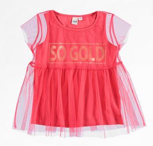 Canotta bambina in jersey stretch di cotone ido CORALLO-2342