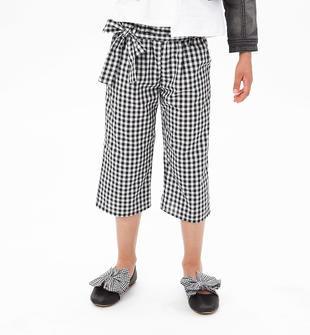 Fashion e alla moda pantalone cropped per bambina ido NERO-0658