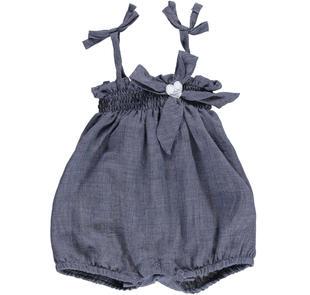 Salopette estiva misto viscosa per neonata ido BLU MELANGE-8954