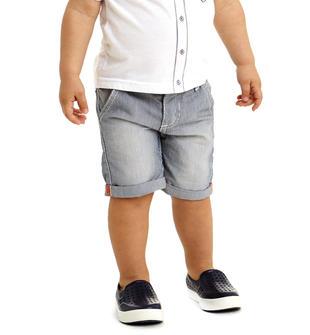 Pantalone con fantasia filo riga verticale 100% cotone ido STONE WASHED-7450