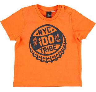 T-shirt stampa tribe ido ARANCIO-1865