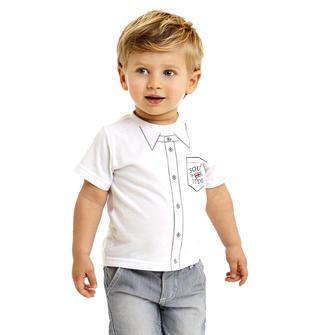 T-shirt in jersey 100% cotone a manica corta ido BIANCO-0113