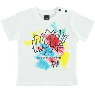 Colorata t-shirt 100% cotone ido BIANCO-0113
